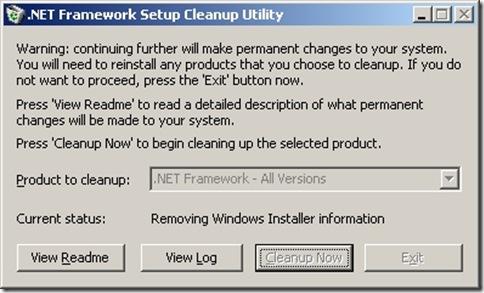 NET Framework Setup Cleanup Utility 20100630 234007